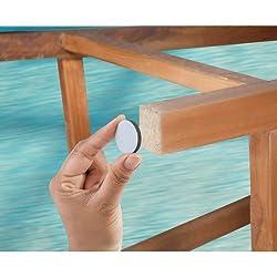 Primeway Round Teflon Furniture Sliders, Dia 18Mm, 23Mm And 28Mm, 12 Pcs Set