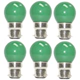 Osram 0.5 Watt LED Bulb B22d Green (Pack Of 6)