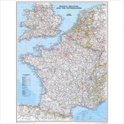 France/Belgium/Netherlands Map Map Type: Basic (National Geographic Maps)