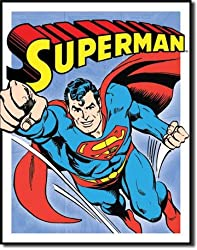 "Superman - Retro Panels Tin Sign 12.5""W x 16""H"