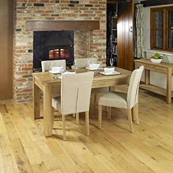 Baumhaus Mobel Extending Oak Dining Table (Seats 4-8)