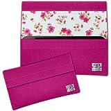 SIMON PIKE Rosen Hülle Handytasche NewYork 14 pink für Apple iPhone 5S 5C 5 aus Filz