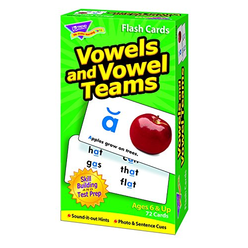 Vowels and Vowel Teams Skill Drill Flash Card Game (72 Pack) (Math Drill Express compare prices)