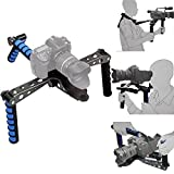 Patuo Foldable DSLR Shoulder Mount Rig for Camera Camcorder Movie Film Handle Steady Stabilizer Kit