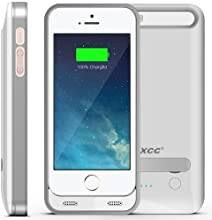 [Apple MFI Certified] iXCC ® 2400mAH External Protective Extended Battery Case with Built-in Kickstand for Apple iPhone 5 and iPhone 5s [White] (Fits All Versions of iPhone 5 / 5S with Lightning Connector Output, MicroUSB Input) [100% Compatible with ALL IOS System (including IOS 7.0+), Strengthened MicroUSB Input Port for charging and sync, No Signal Reduction]