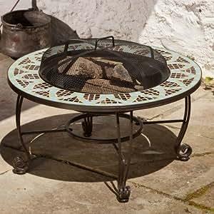 Le mans fire pit table patio lawn garden for Amazon prime fire pit