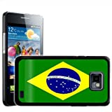 Fancy A Snuggle Brazil Flag Design Hard Case Clip On Back Cover for Samsung Galaxy S2 i9100