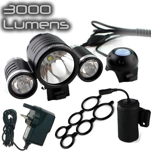 uk sale best price iamoutdoor 3000 lumen rechargeable waterproof cree led front bike cycle light. Black Bedroom Furniture Sets. Home Design Ideas