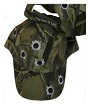 Camouflage HAT - Embroidered With BULLET HOLES - Adjustable