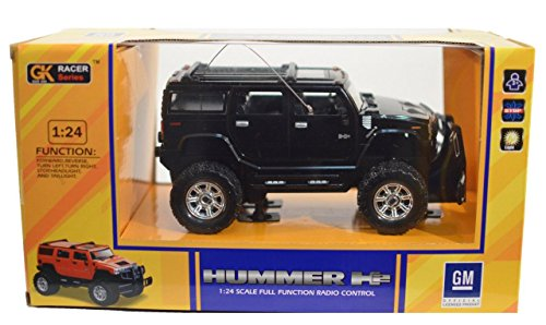 GK Racer Series Hummer H2 1:24 Scale Full Function Radio Control (BLACK) (Radio Control Hummer compare prices)