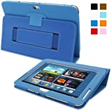 Snugg Galaxy Note 10.1 2013 Edition Case - Smart Cover with Flip Stand & Lifetime Guarantee (Electric Blue Leather) for Galaxy Note 10.1 (2013)