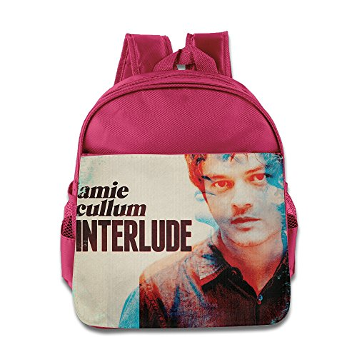CEDAEI Jamie Cullum - Interlude Jazz Pop Singer Songwriter Personalized Boys And Girls Schoolbag For 1-6 Years Old Pink