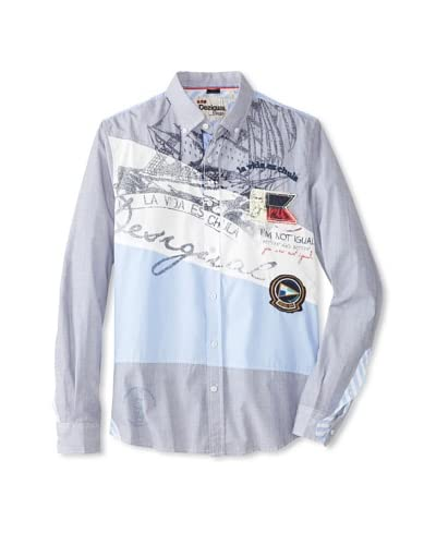 Desigual Men's Belice Long Sleeve Woven Shirt