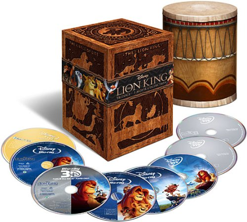 The Lion King Trilogy Collection (8-Disc Combo) (Blu-ray 3D + Blu-ray + DVD + Digital Copy) (Widescreen)