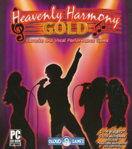 Heavenly Harmony Gold Karaoke And Vocal Performance Game Cd-Rom With Usb Microphone