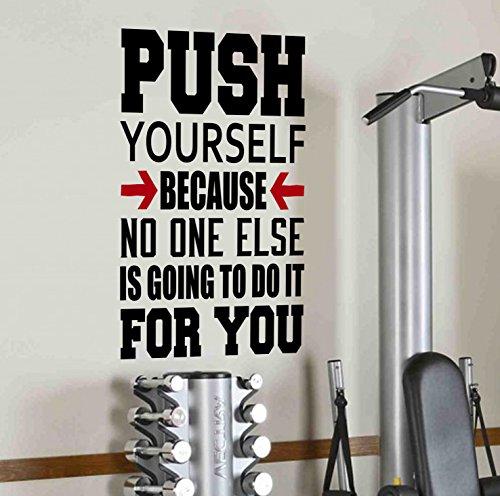 push-yourself-because-no-one-serbo-going-to-do-it-adesivi-da-parete-educativi-per-la-salute-e-il-fit