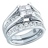Wedding Rings 0.52CT DIAMOND BRIDAL SET SIZE 6 10KT White Gold