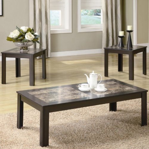 Marble Top Coffee Table Set: Buy Low Price Acme 17415 Kyle Faux Marble Top Coffee Table