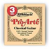 【国内正規品】 D'Addario ダダリオ クラシックギター弦 プロアルテ EJ45-3D 3パック Silver/Clear/Normal
