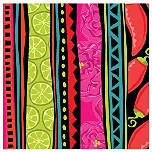 Creative Converting 203139 Caliente Stripes Lunch Napkins