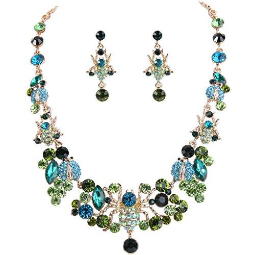 ever-faithrfemminile-cristallo-ragni-coleotteri-collana-bella-dellinsetto-orecchini-set-green-gold-t