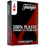 Fournier No. 2500 Poker Size Standard Index Playing Cards (Red)