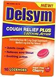 Delsym Cough Relief Plus Lozenges, Cherry Sugar Free, 16 Count