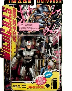 "Wildcats: 5"" Black Razor Figure - 1"