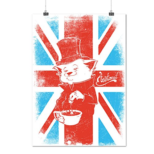 uk-cat-pet-aristocat-british-tea-matte-glossy-poster-a3-42cm-x-30cm-wellcoda
