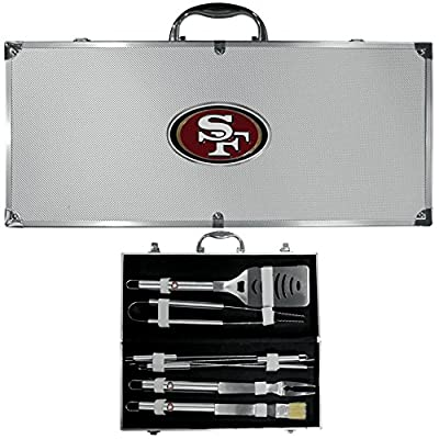 San Francisco 49ers Nfl 8pc Bbq Tools Set