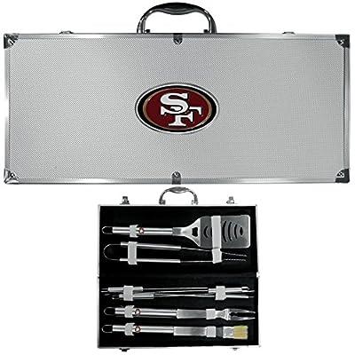 San Francisco 49ers Nfl 8pc Bbq Tools Set