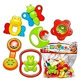 サクララ(Sakulala) ベル チャイム ラトル 音鳴り 玩具 ガラガラ 赤ちゃん 新生児 ベビー お風呂 おもちゃ 6点セット