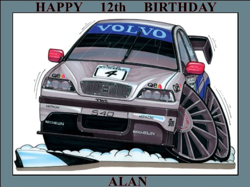 42-volvo-s40-btcc-98-silver-koolart0042-personalised-10-x-75-icing-cake-topper-any-name-age-or-messa