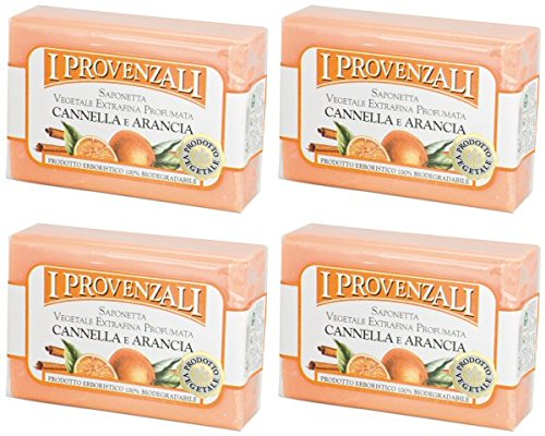 i-provenzali-cannella-e-arancia-vegetable-perfumed-soap-cinnamon-and-orange-scent-35-ounce-100g-pack