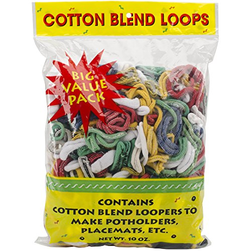 Wool Novelty Cotton Blend Weaving Loops, 10 oz, Assorted