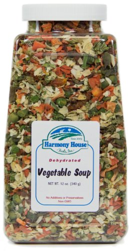 Harmony House Foods Soup Mix, Dried Vegetable, 12 Ounce Quart Size Jar (Dehydrated Vegetable Mix compare prices)