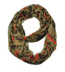 WishCart Women's Infinity Circle Scarves Lightweight Leopard and Zebra Printing -Multi Brown