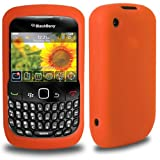 CNL ORANGE SILICONE SLIM SKIN COVER CASE FOR BLACKBERRY CURVE 8520 / 9300 3G MOBILE PHONE
