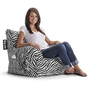 Big Joe Dorm Chair Zebra Kitchen Dining