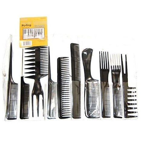 MayaBeauty 10 Piece Professional Styling Comb Set