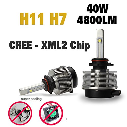 Suparee 4800Lm 40W 6000K Cree Led Car Headlight Kit Daytime Drl Fog Lamp Bulb H11