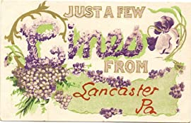 1910 Vintage Postcard Greeting Card from Lancaster Pennsylvania