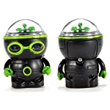iLToy mini Cute IR RC Robot Infrared Remote Control Toy Soccer Fighting Robot - Forward & Spins (Black & Green)