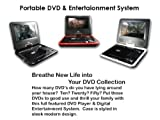 Portable DVD Player 7.5 with Game USB SD DIVX (one unit in BLACK)