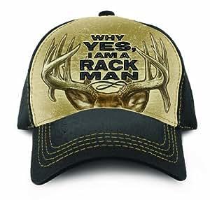 Buck Wear Rack Man Hat, Black/Tan, One Size