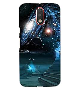 ColourCraft The Galaxy Design Back Case Cover for MOTOROLA MOTO G4 PLUS