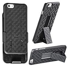 buy Iphone 6 Holster, Wizgeartm Shell Holster Combo Case For Apple Iphone 6 4.7 Inch Screen With Kick-Stand & Belt Clip - Fits At&T, Verizon, T-Mobile & Sprint - Black (Iphone 6 4.7 Inch)