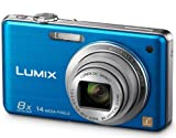 Panasonic Lumix FS30 Digital Camera - Blue (14.1MP, 8x Optical Zoom) 2.7 inch LCD