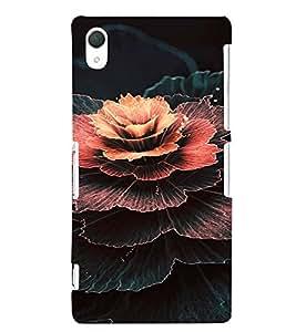 PrintVisa Flower Design 3D Hard Polycarbonate Designer Back Case Cover for Sony Xperia Z2