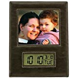 Leather Photo Frame with LCD Clock Trade Show Giveaway